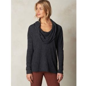 Prana Charcoal Gray Ginger Cowl Neck Top